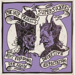 "7"" The HIP PRIESTS / SUPERSUCKERS (Black) *PRE-ORDER*"