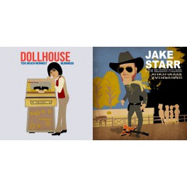 "7"" JAKE STARR & The Delicious Fullness / DOLLHOUSE (black)"