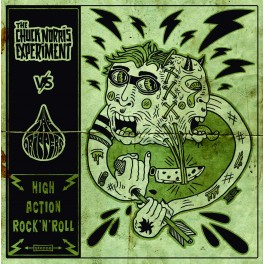 """Split 7"""" The CHUCK NORRIS EXPERIMENT / The DRIPPERS (Black) *PRE-ORDER*"""